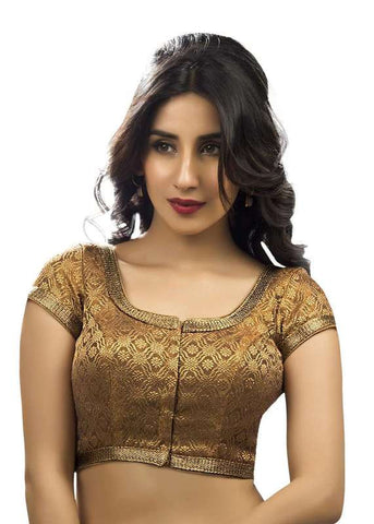 copper Color Brocade Readymade Function Wear Blouses ( Sizes - 32, 34, 36, 38, 40, 42 ): Samita Collection  YF-39612