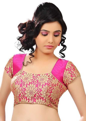 pink Color Net Readymade Function Wear Blouses ( Sizes - 32, 34, 36, 38, 40, 42 ): Samita Collection  YF-39642