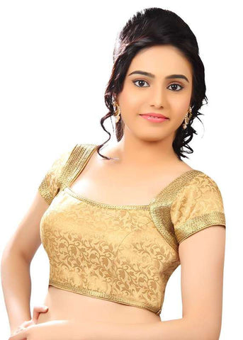 gold Color Brocade Readymade Function Wear Blouses ( Sizes - 32, 34, 36, 38, 40, 42 ): Samita Collection  YF-39684