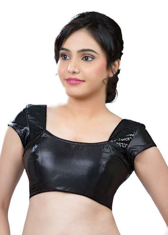 black Color Shimmer Readymade Function Wear Blouses ( Sizes - 32, 34, 36, 38, 40, 42 ): Samita Collection  YF-39714