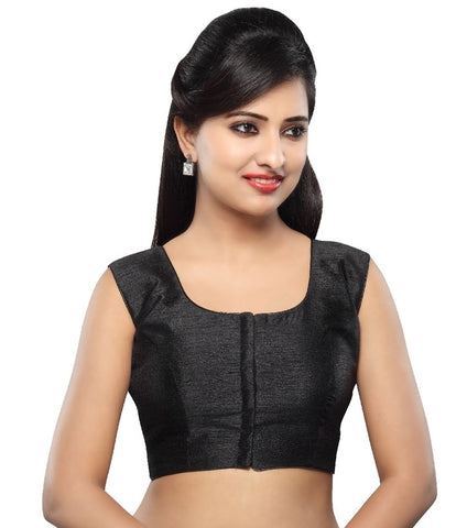 Black Color Tissue Readymade Party Wear Blouses (32,34,36,38,40,42): Sanjana Collection  YF-41859