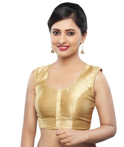 Gold Color Tissue Readymade Party Wear Blouses (32,34,36,38,40,42): Sanjana Collection  YF-41865