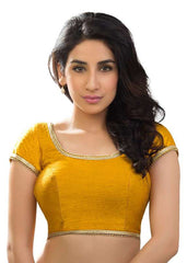 mustard Color Dupion Silk Readymade Function Wear Blouses ( Sizes - 32, 34, 36, 38, 40, 42 ): Samita Collection  YF-39822