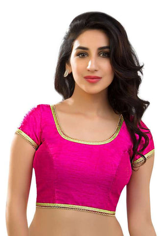 pink Color Dupion Silk Readymade Function Wear Blouses ( Sizes - 32, 34, 36, 38, 40, 42 ): Samita Collection  YF-39828