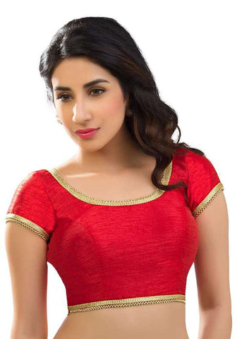 red Color Dupion Silk Readymade Function Wear Blouses ( Sizes - 32, 34, 36, 38, 40, 42 ): Samita Collection  YF-39834
