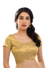 gold Color Shimmer Readymade Function Wear Blouses ( Sizes - 32, 34, 36, 38, 40, 42 ): Samita Collection  YF-39840