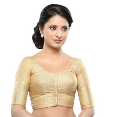 Gold Color Tissue Readymade Party Wear Blouses (32,34,36,38,40,42): Sanjana Collection  YF-41877