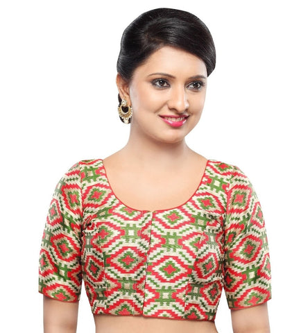 Mehendi Green Color Georgette Readymade Party Wear Blouses (32,34,36,38,40,42): Sanjana Collection  YF-41949