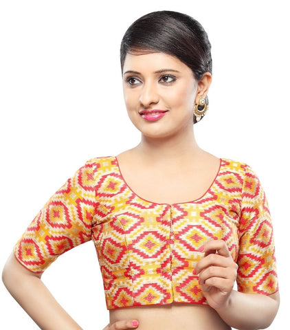 Yellow-Multi Color Georgette Readymade Party Wear Blouses (32,34,36,38,40,42): Sanjana Collection  YF-41967