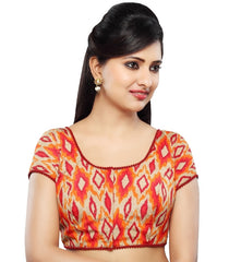 Maroon Color Dupion Silk Readymade Party Wear Blouses (32,34,36,38,40,42): Sanjana Collection  YF-41979
