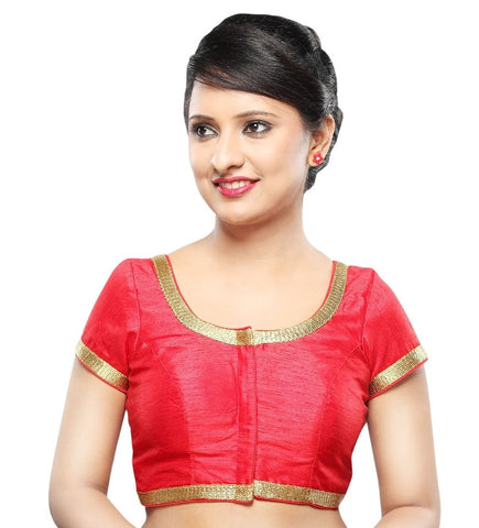 Red Color Dupion Silk Readymade Party Wear Blouses (32,34,36,38,40,42): Sanjana Collection  YF-42045