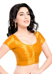 mustard Color Dupion Silk Readymade Function Wear Blouses ( Sizes - 32, 34, 36, 38, 40, 42 ): Samita Collection  YF-39870