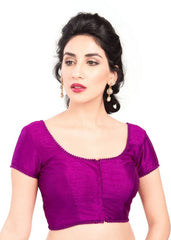 purple Color Dupion Silk Readymade Function Wear Blouses ( Sizes - 32, 34, 36, 38, 40, 42 ): Samita Collection  YF-39900
