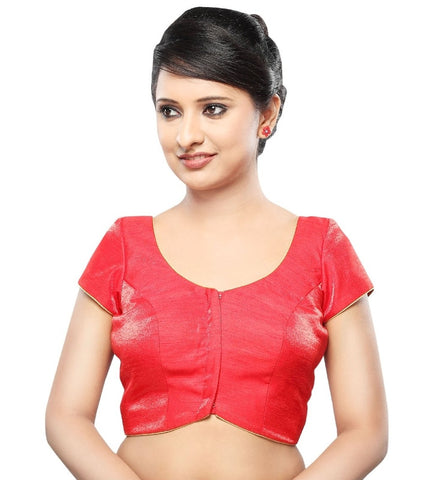 Red Color Tissue Readymade Party Wear Blouses (32,34,36,38,40,42): Sanjana Collection  YF-42243