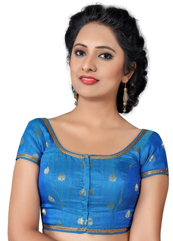 Blue Color Silk Readymade Party Wear Blouses (32,34,36,38,40,42,44): Vianshi Collection  YF-56402