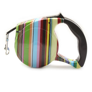 Stripes Pattern Automatic Dog Leash