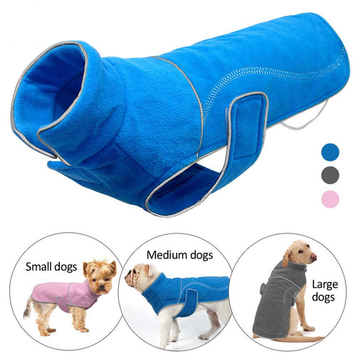 Winter Fleece Dog Reflective Coat Jacket