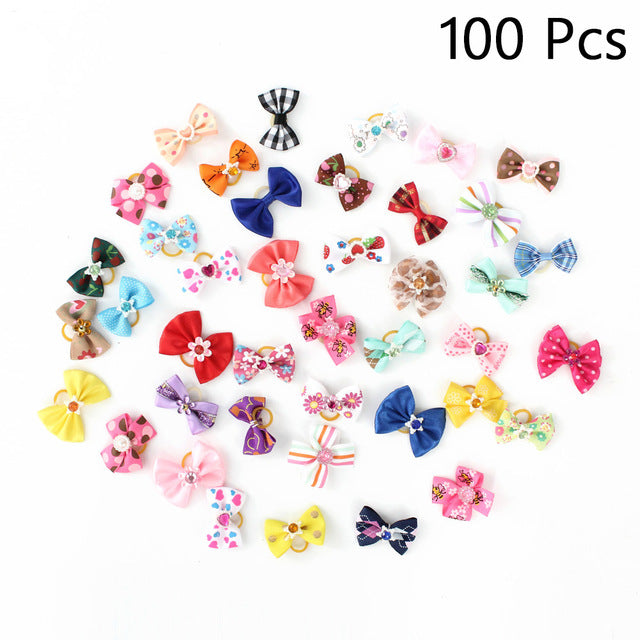 Hair Little Flower Bows For Small Dogs Charms Gift