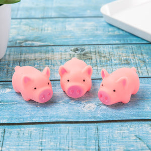 3pcs/lot New Cute 4.5cm Dog Pink Screaming Rubber Pig