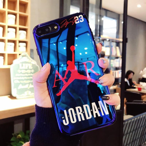 New fly man Jordan Blu-ray soft silicon cover case for iPhone