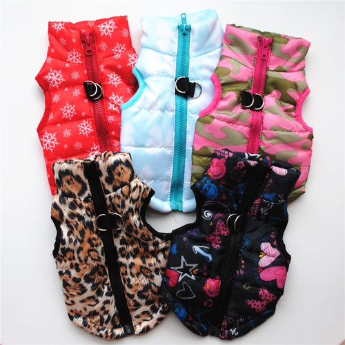 Puppy Outfit Vest Warm Dog Clothes