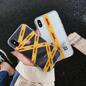 FASHION SOFT SILICONE TRANSPARENT YELLOW DESIGN PHONE CASE