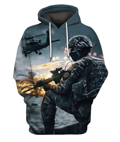 3D All Over Printed Militaty Pattern Clothes