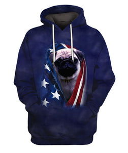 3D All Over Printed Pug Pattern Clothes