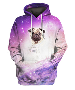 3D All Over Printed Pug In Space Pattern Clothes