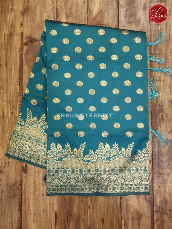 Rama Green & Blue - Semi Banarasi - Shop on ShrusEternity.com