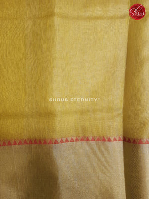 Lemon Yellow(Single Tone) - Linen Cotton