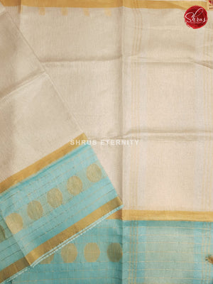 White & Sky Blue  - Linen Cotton