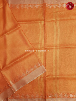 Orange(Single Tone)  - Linen Cotton