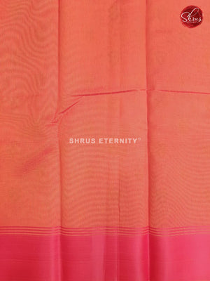Yellowish Orange & Deep Orange - Cotton Silk