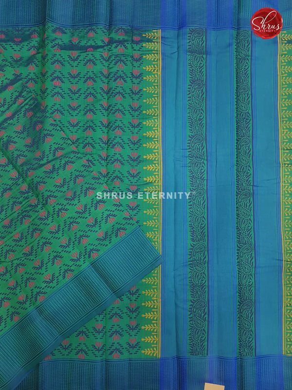 Green & Blue - Cotton Silk