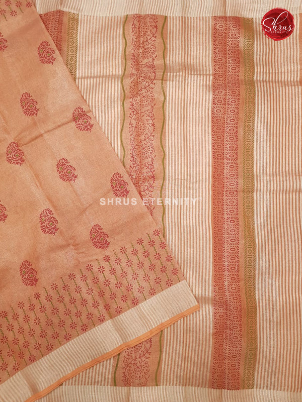 Light Orange (Single Tone)- Linen Tissue Cotton