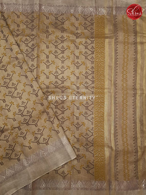 Cream (Single Tone)- Linen Tissue Cotton