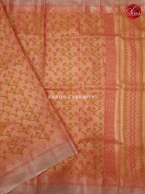 Orange (Single Tone)- Linen Tissue Cotton