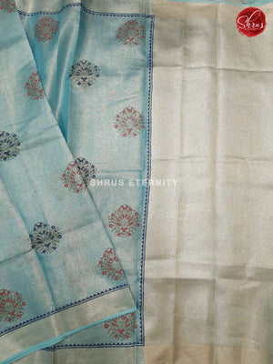 Light Blue (Single Tone)- Linen Tissue Cotton