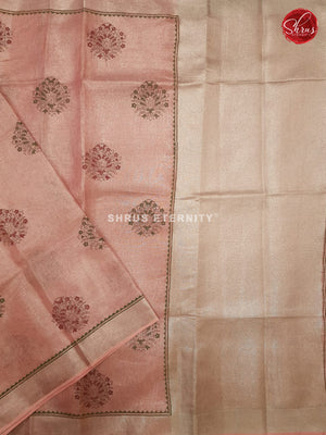Baby Pink (Single Tone)- Linen Tissue Cotton