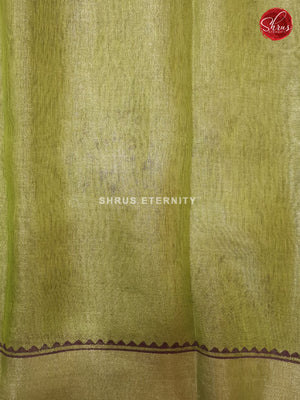 Light Green (Single Tone)- Linen Tissue Cotton