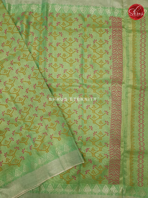 Pista Green (Single Tone)- Linen Tissue Cotton