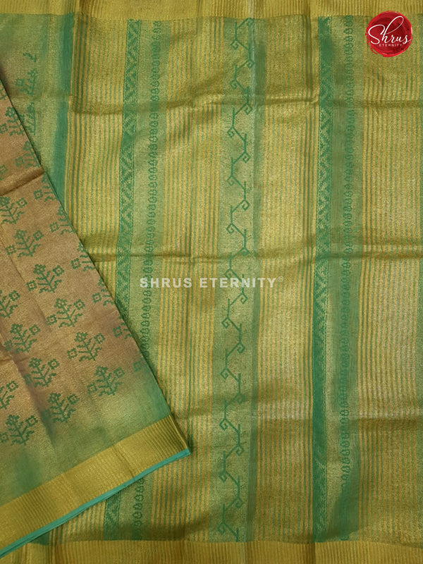Beige & Green - Linen Tissue Cotton