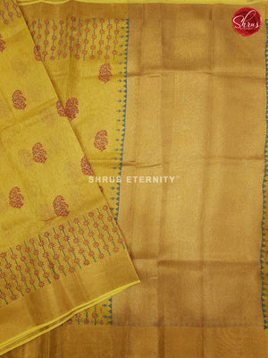 Yellow (Single Tone) - Linen Tissue Cotton