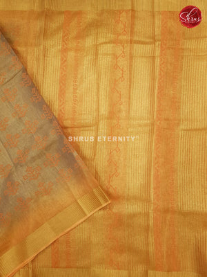 Beige & Yellow- Linen Tissue Cotton