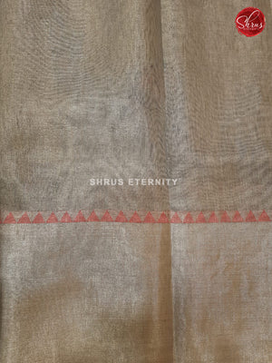 Grey (Single Tone) - Linen Tissue Cotton