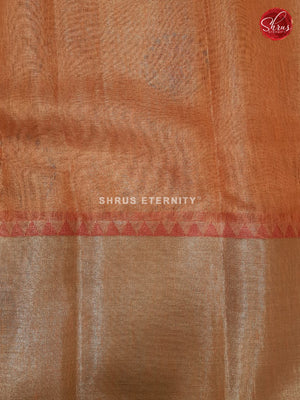 Pale Orange (Single Tone) - Linen Tissue Cotton