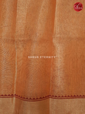 Orange (Single Tone) - Linen Tissue Cotton
