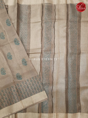 Ash Grey (Single Tone) - Linen Tissue Cotton