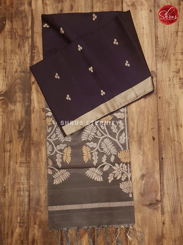 Dark navy blue & Grey - Soft Silk